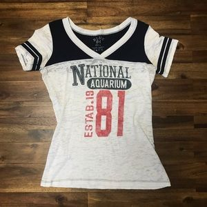 Baltimore National Aquarium Burnout Baseball Tee
